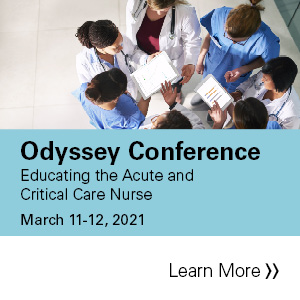 2021 Odyssey Conference: Educating the Acute and Critical Care Nurse Banner